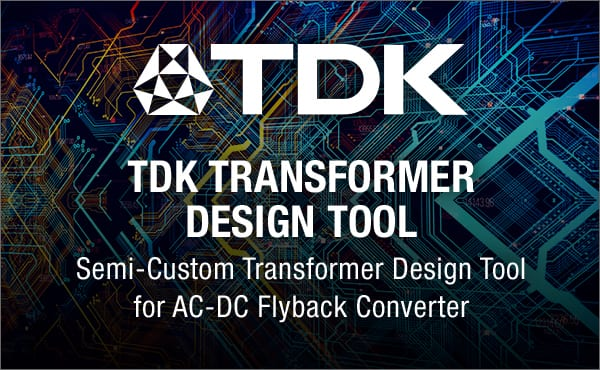 Image of TDK's Transformer Design Tool